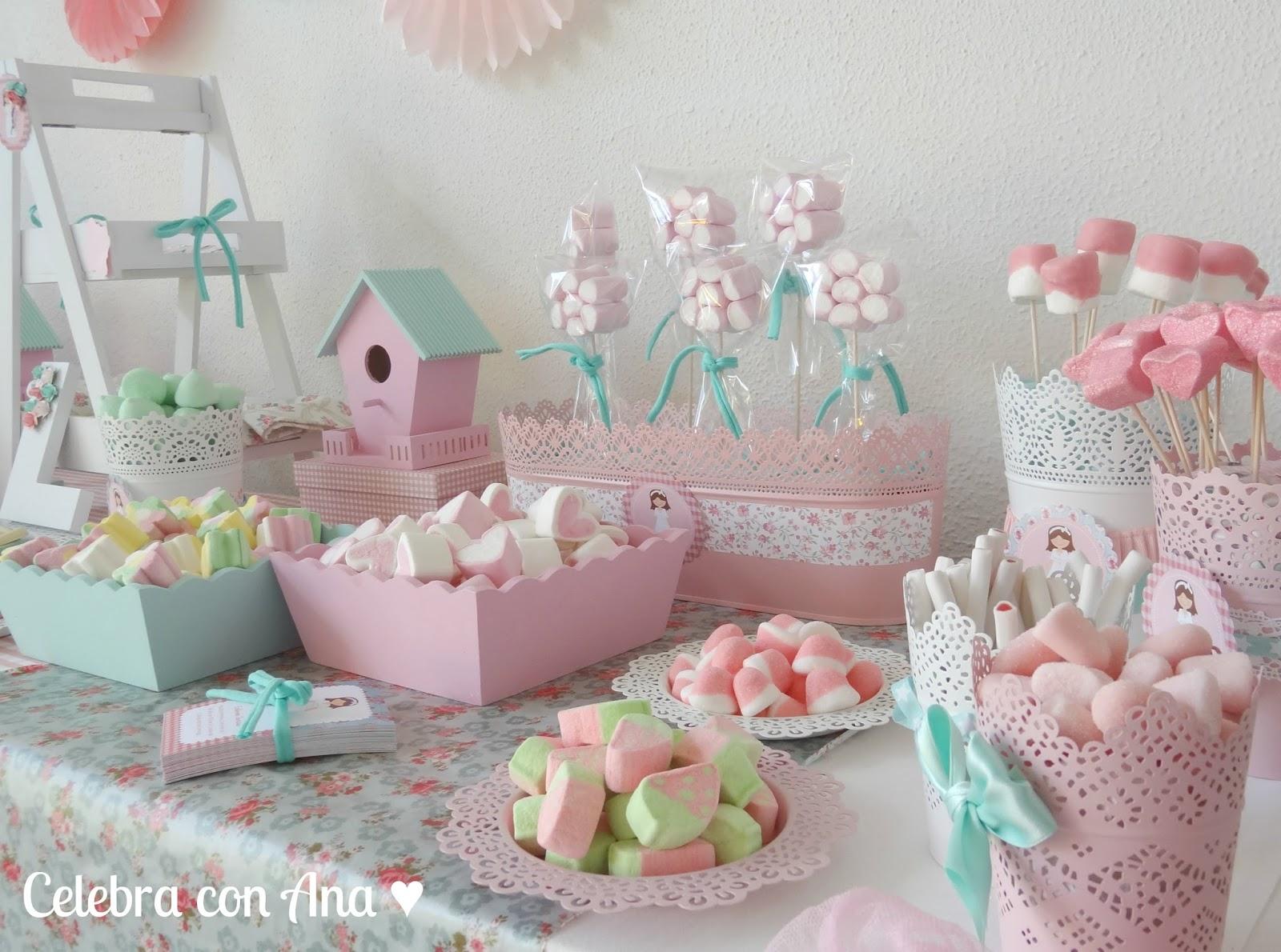 Celebra con ana fiestas y regalos personalizados - Mesas para comuniones ...