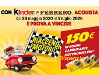 Logo Concorso ''Riaccendi i motori con Kinder e Ferrero'': in palio 100 buoni carburante da 150 euro