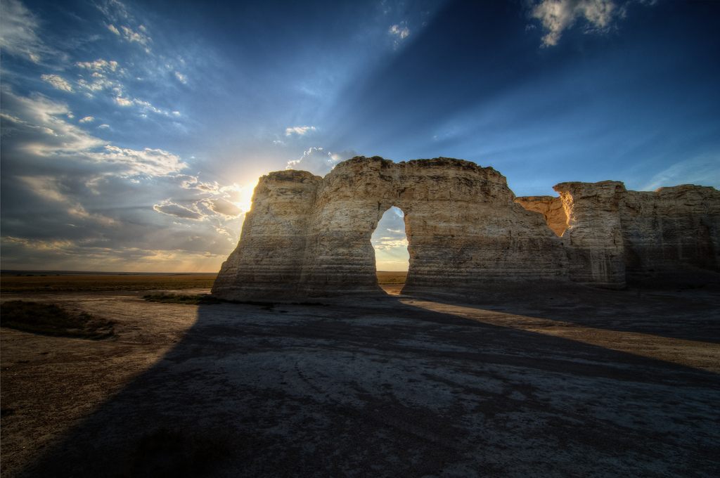 Climbing My Family Tree: Monument Rocks in Gove County KS by Lane Pearman