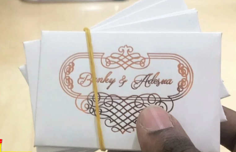 See the access card to gain entrance into Banky W and Adesua Etomi's traditional wedding tomorow