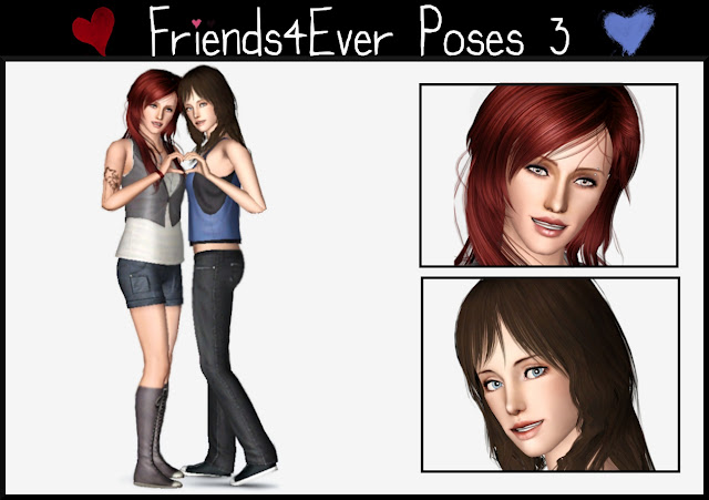 My Sims 3 Blog: Friends 4 Ever Poses by Lili09