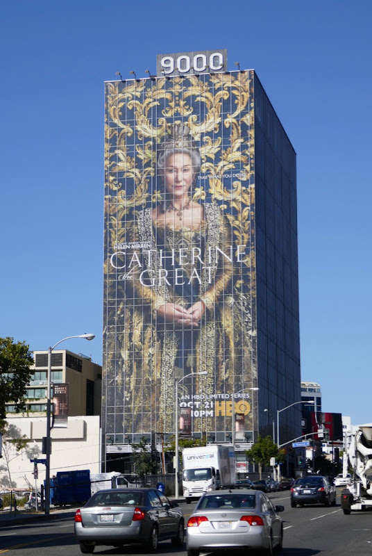 Giant Catherine the Great limited series billboard