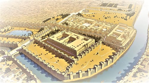 Babylon, the capital of the Babylonian Empire and the Neo-Babylonian Empire.