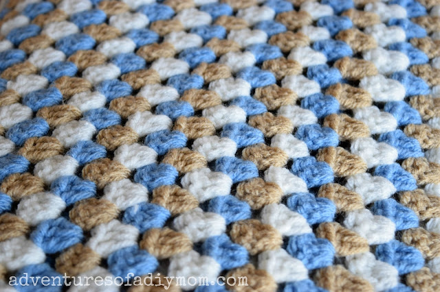 Granny Stripe Crocheted Blanket