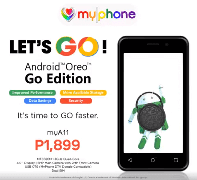 MyPhone announces myA11, the cheapest Android Oreo (Go edition) phone in PH