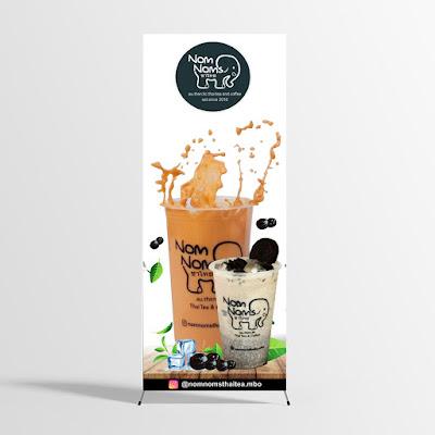 desain x banner thai tea