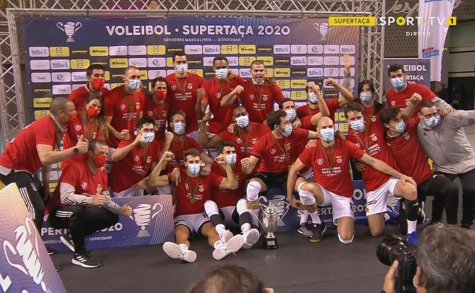 Benfica vencedor da Supertaça de Voleibol 2020