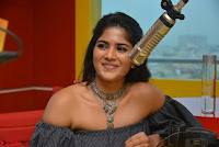 Mega Akash in a sleeveless Off Shoulder Cute Dress Stunnign beauty at Radio Mirchi Promoting Movie LIE ~ Celebrities Galleries 011.JPG
