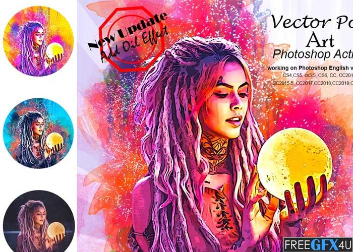 Vector Pop Art Photoshop Action