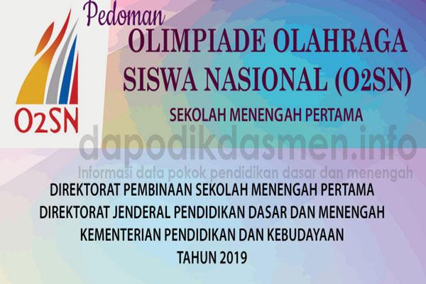 Juklak O2SN SMP Tahun 2019 ( Juknis Olimpiade Olahraga Siswa Nasional SMP 2019 )