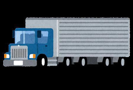 大きなボンネットトラックのイラスト