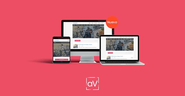 Nexvite, Plantilla blogger Editable con diseño simple y elegante