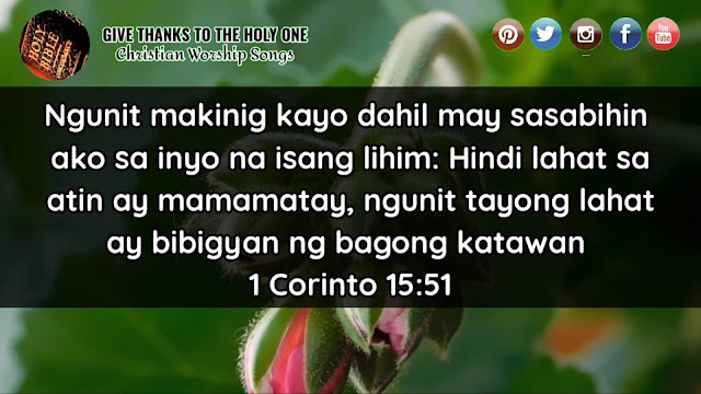 Give Thanks ToThe Holy One Tagalog Bible Verse About Resurrection