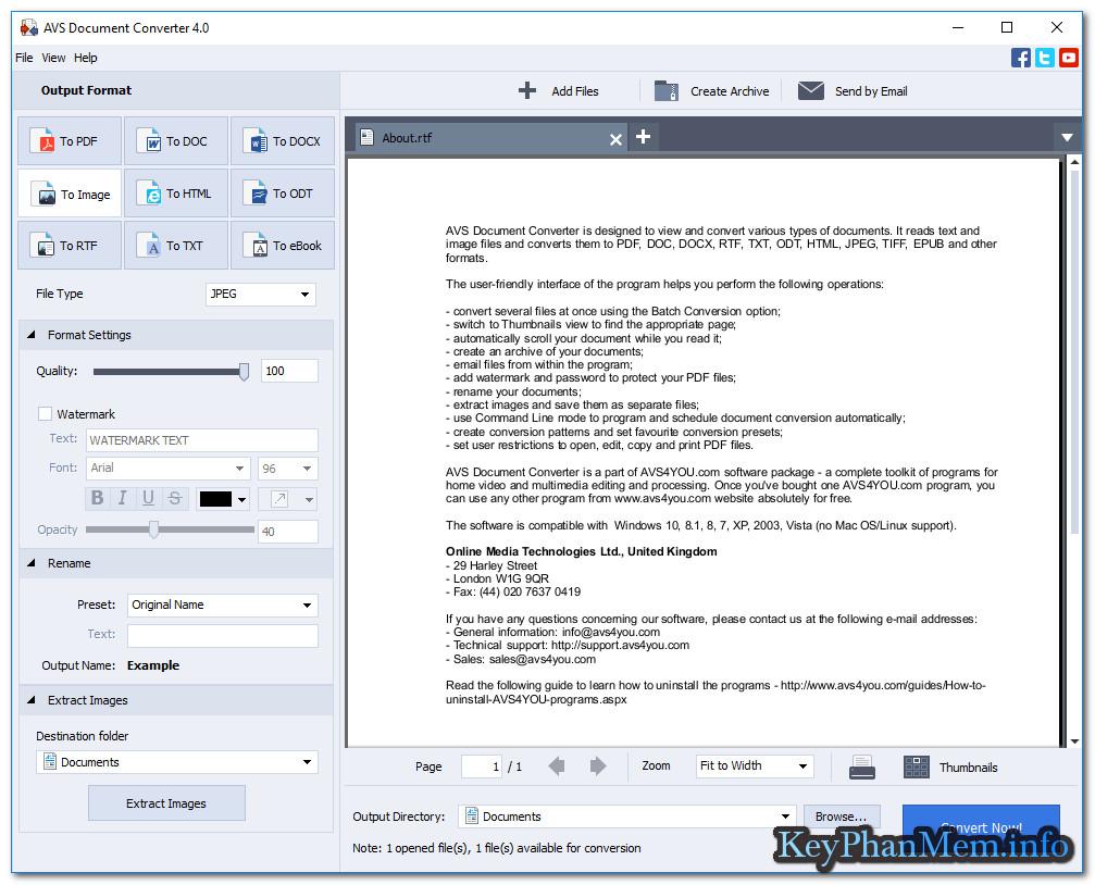 Download AVS Document Converter 4.1.1.258 Full Key,Phần mềm chuyển đổi các định dạng văn bản