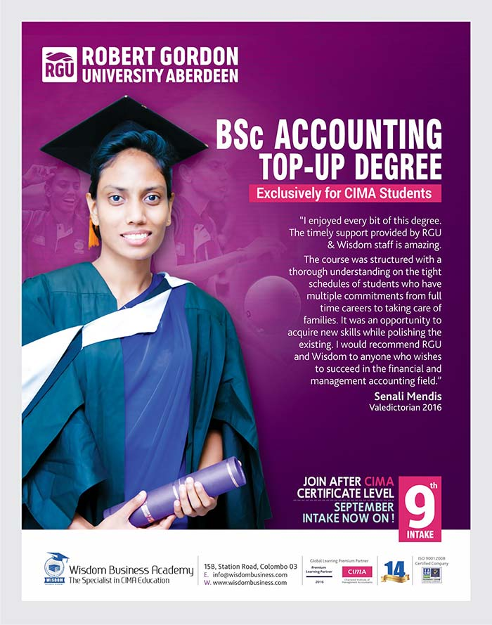 BSc Accounting @ Wisdom. September intake now on