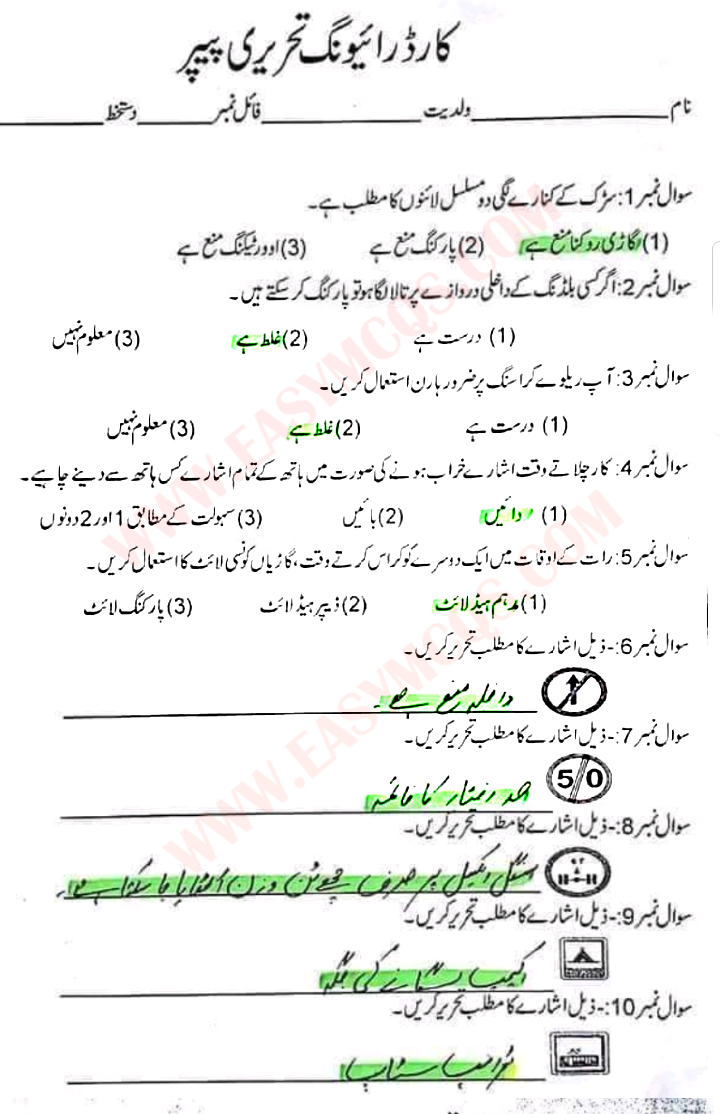 driver license permit test