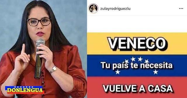 DiPutada panameña Zulay Rodriguez pidió a los Venecos que regresen a sus casas