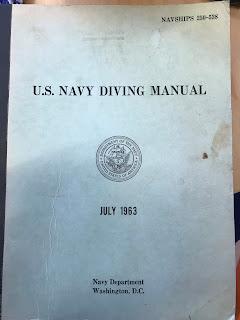 US Navy diving manual -kirjan kansi vuodelta 1963