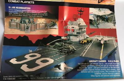 1985 Catalog, USS Flagg, Tomax and Xamot, Zartan, Dreadnoks, Stormshadow, Flint, Lady, Snake Eyes, Shipwreck, Crimson Guard