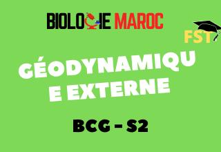 Géodynamique Externe BCG S2 : Cours+TD+Examens PDF