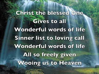 HYMN Lyrics Text: Wonderful Words Of Life
