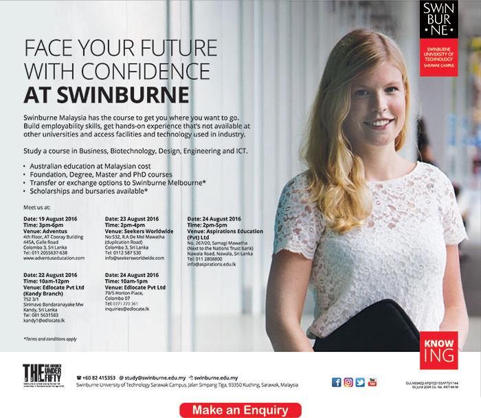 Swinburne University Malaysia Interviews in Colombo & Kandy