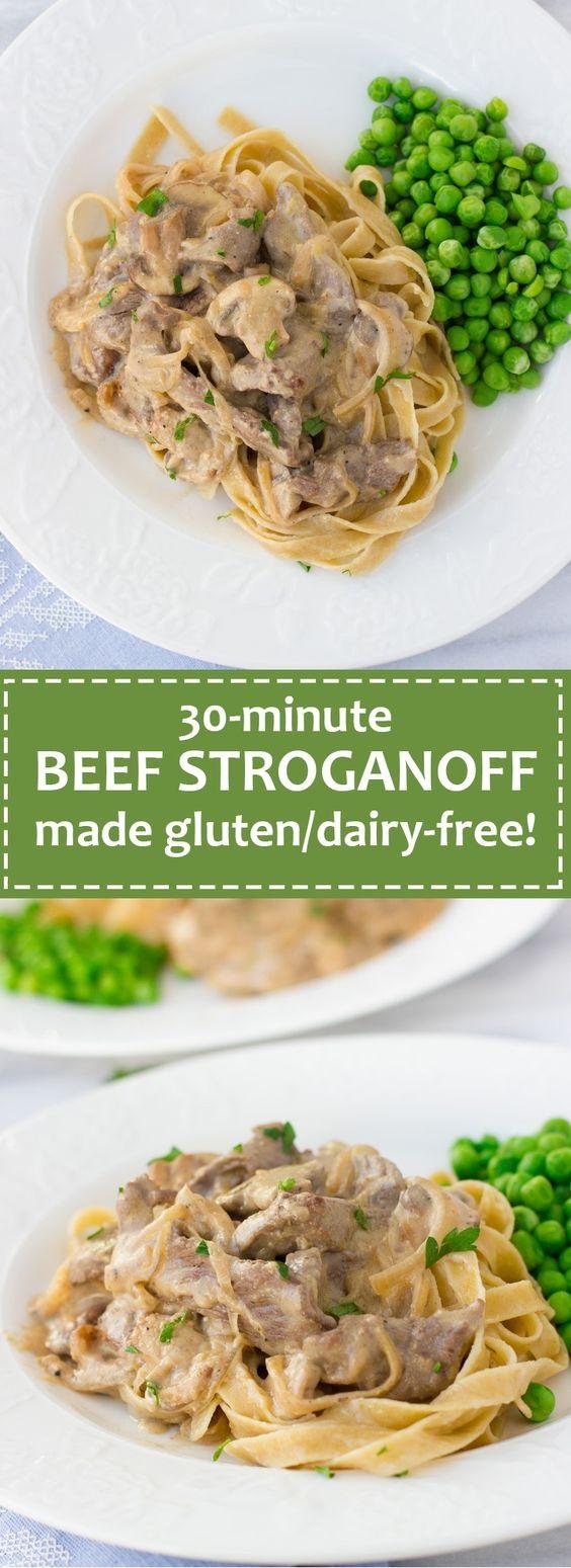 Gluten-Free, Dairy-Free 30-Minute Beef Stroganoff