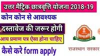Bharatpur News अब पोर्टल पर होंगे उत्तर मैट्रिक छात्रवृति के आवेदन
