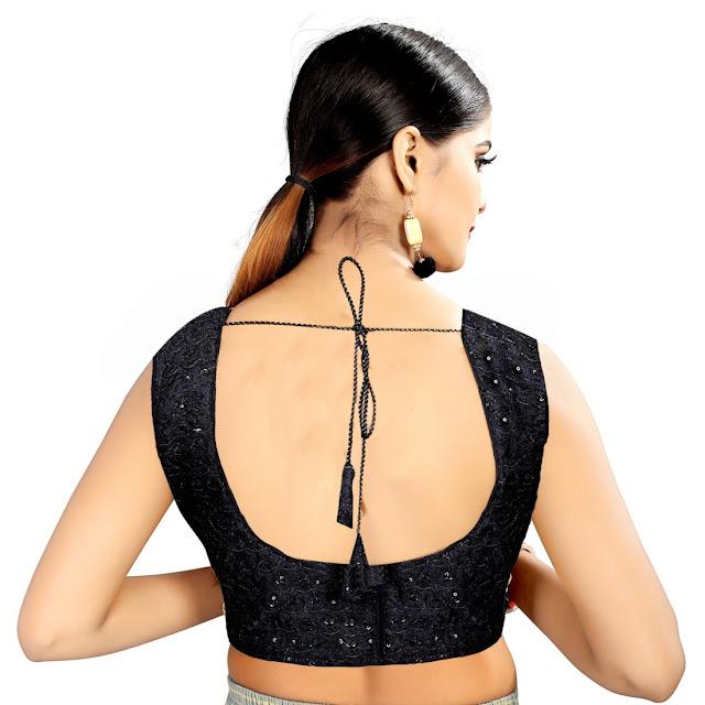 Trendy Black Designer Blouse