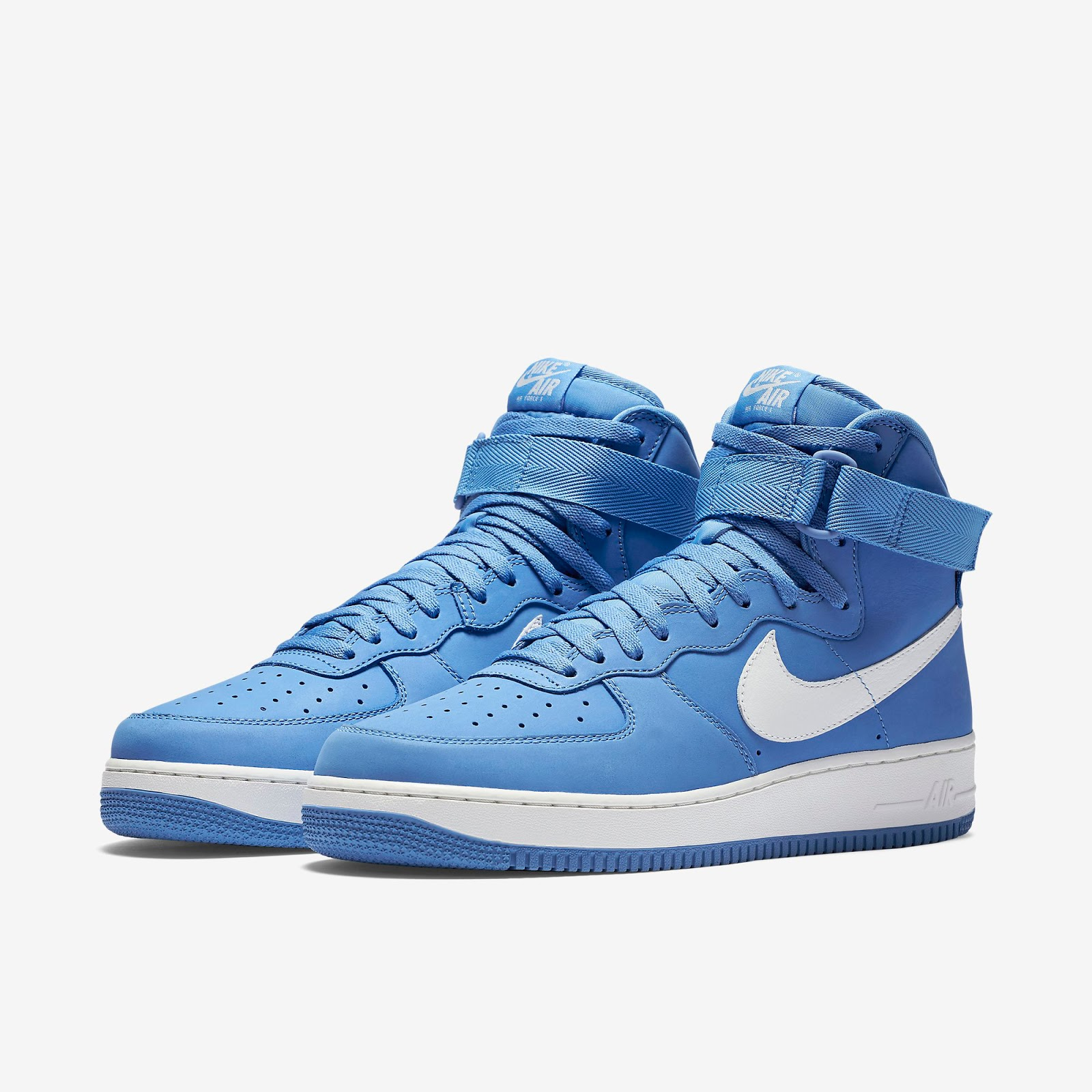 official photos 961dc f2fe4 ... homme chaussures 01610 4f15b  new zealand nike air force 1 high retro  qs university blue summit white release reminder 189f0