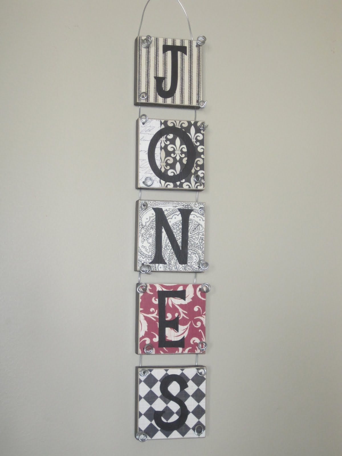 Simply Said Design Personalized Wall Hanging Wood Block