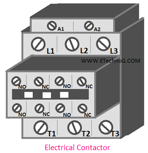 industrial electrical device: electrical contactor