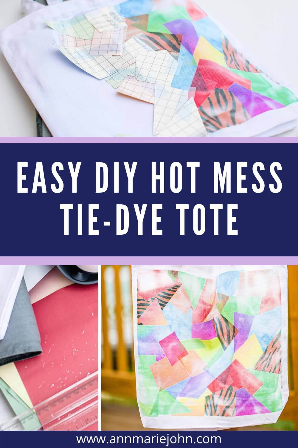 Easy DIY Hot Mess Tie-Dye Tote