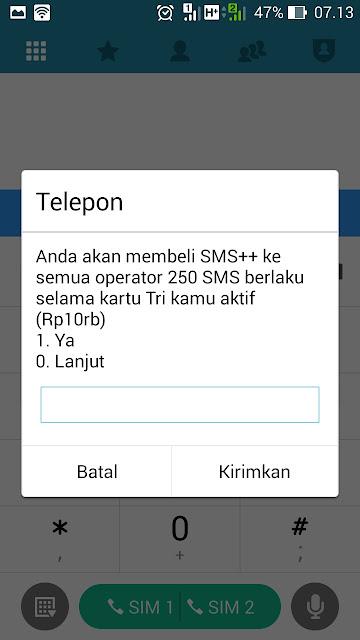 paket sms tri berlaku selama masa aktif kartu