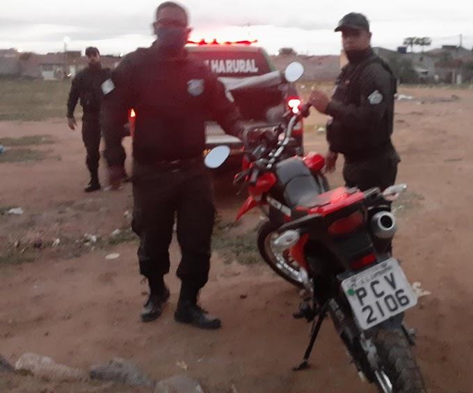 Moto tomada de assalto foi recuperada pela equipe da GCM de São Domingos