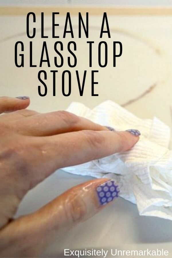 How To Clean A Stove Top Glass Pinterest Graphic