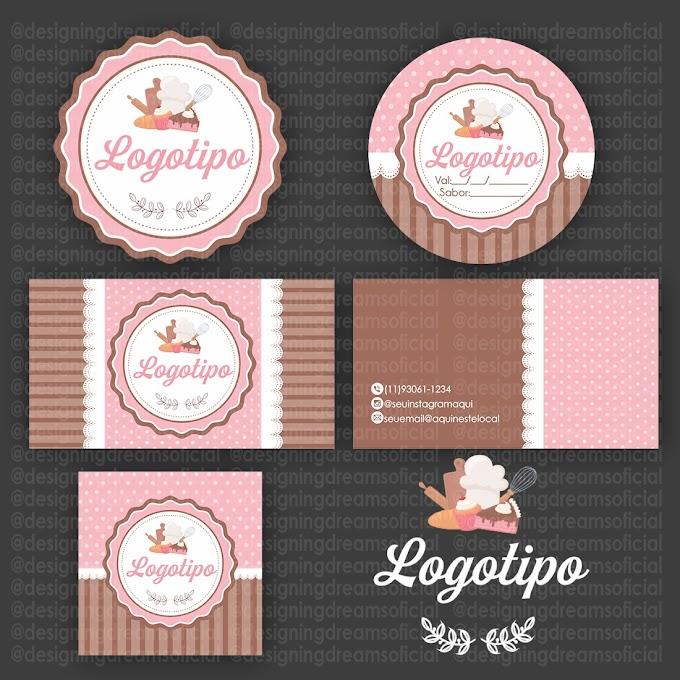 Logotipo bolos e doces