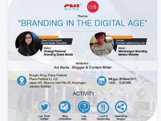 Mendapatkan Side Dan Hide Job Dari Personal Branding: Blogger Gathering Branding In The Digital Age