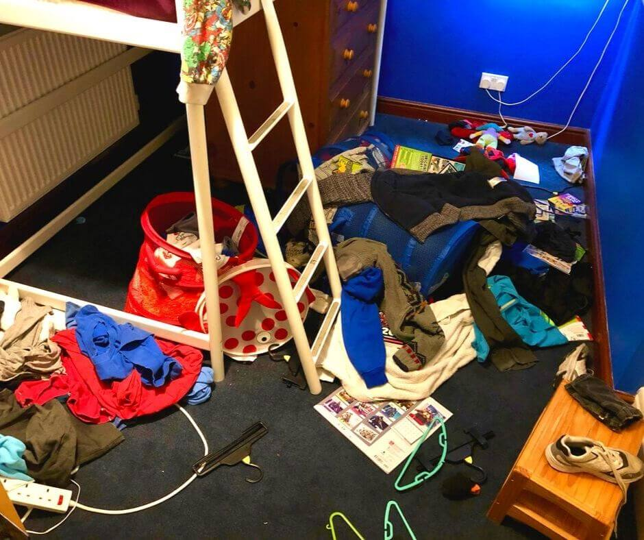 Keeping Momentum With Your Routine, Despite Blips | My son's bedroom is messy all the time!