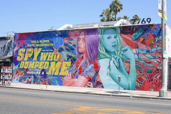 Spy Who Dumped Me wall mural ad