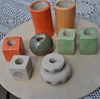 Elemente für eine Gartendeko Stele