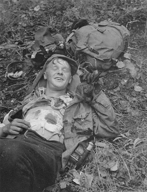 Wounded Finnish soldier, 14 August 1941 worldwartwo.filminspector.com