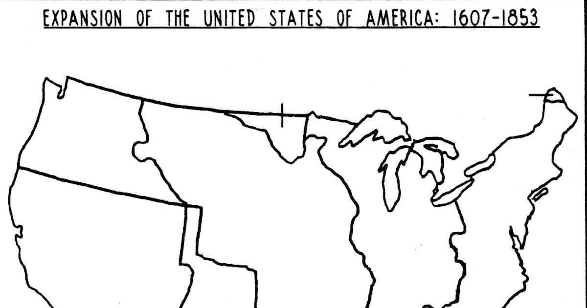 Blank Territorial Expansion Us Map - Us-western-expansion-map