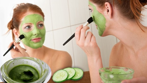 salatalık ve tereyağı maskesi
