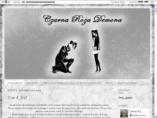 czarna róża demona