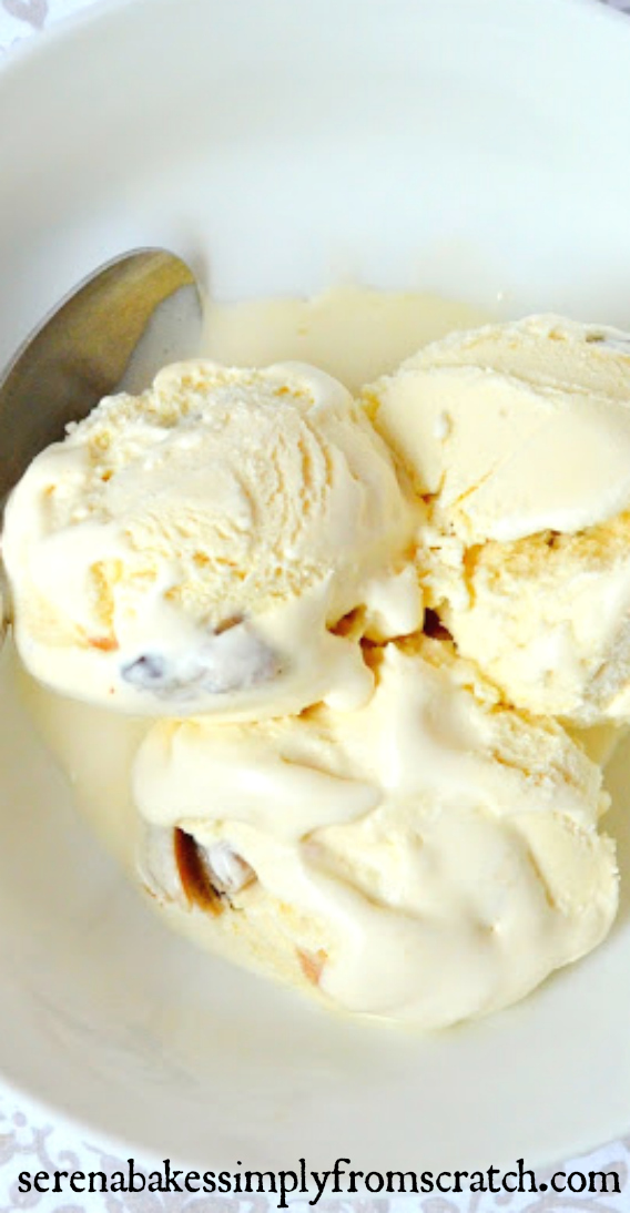 Homemade Chocolate Chip Cookie Dough Ice Cream with easy to follow step by step photo instructions! Perfect for summertime! serenabakessimplyfromscratch.com