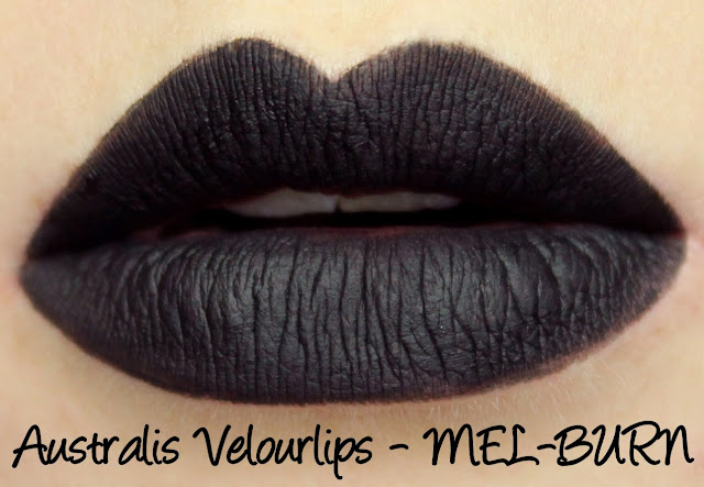 Australis Velourlips Matte Lip Cream - MEL-BURN Swatches & Review + GIVEAWAY!