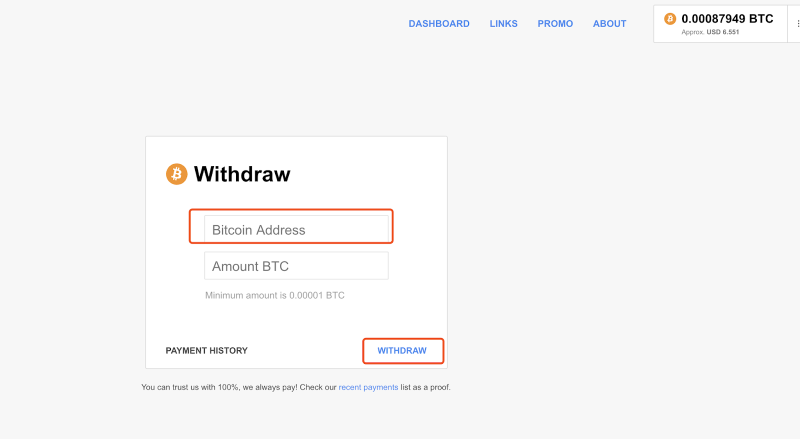 how to withdraw bitcoin to usd