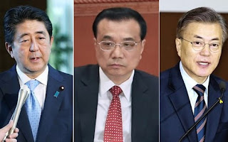 زعماء كوريا الجنوبية واليابان والصين يجتمعون لبحث إخلاء شبه الجزيرة الكورية من الأسلحة النووية