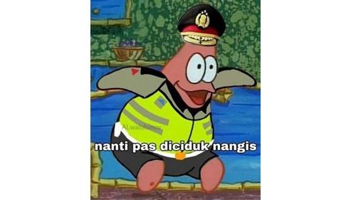 Unggah Meme Patrick 'Nanti Pas Diciduk Nangis', Kaesang Dianggap Menghina Kepolisian